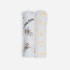 Deanie Organic Baby Cat and Stars Duo (Swaddles)