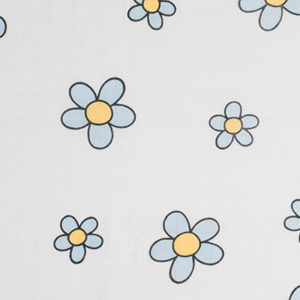 Flower Power I - Sky Blue and Orange Uno (Swaddle)