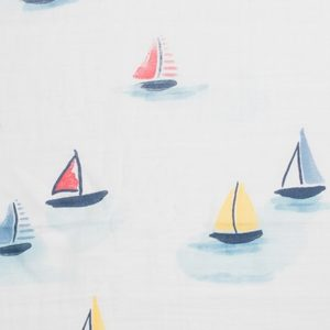 Sailing Boats on Watercolor Lake Uno (Swaddle)