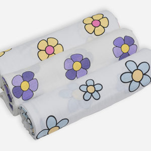 Deanie Orgranic Baby Flower Power Trio (Swaddles)