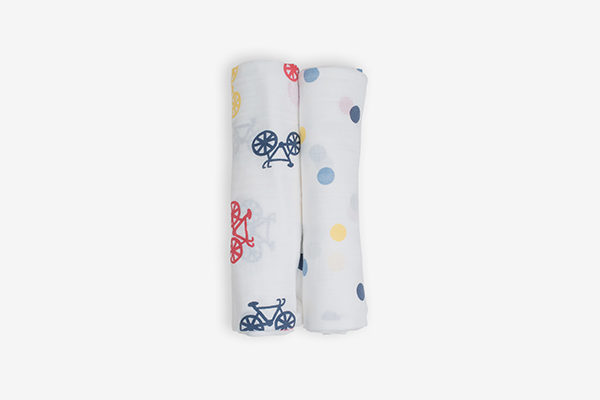 Deanie Organic Baby Bike and Dot Duo (Swaddles)