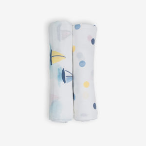 Deanie Organic Baby Boat and Dot Duo (Swaddles)
