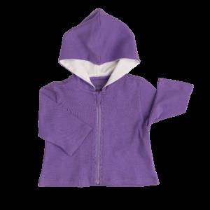 Deanie Organic Baby - Royal Purple Hoodie