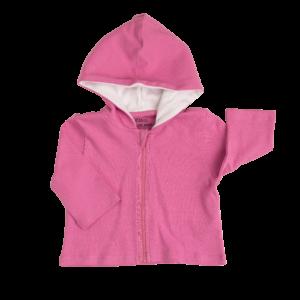 Deanie Organic Baby - Flower Power Pink Hoodie