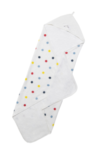 Deanie Organic Baby - Polka Dot Hooded Towel