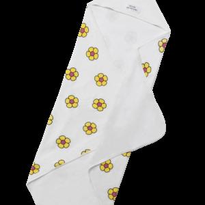 Flower Power Yellow Hooded Towel