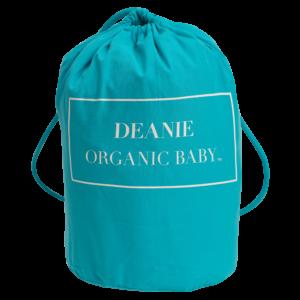 Deanie Organic Baby Teal Logo Layette Bag
