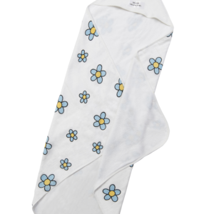 Blue Flower Hooded Towel