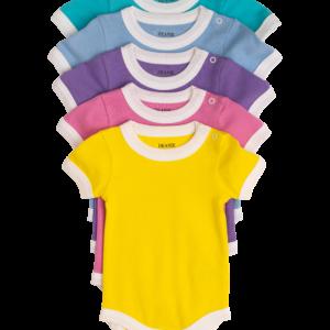 Deanie Organic Baby Bodysuit 5 Pack