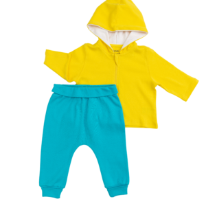 Sunshine Yellow and Teal Outfit (2 Pieces)