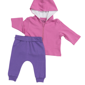 Pink & Royal Purple Outfit - 2 Pieces