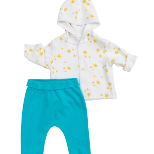 Teal & Cow Jumping the Moon Outfit (2 Pieces)
