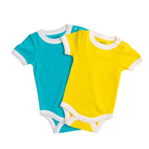 Sunshine Yellow and Teal Bodysuit (2 Pack)